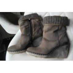 Bottines & low boots à compensés MJUS Marron