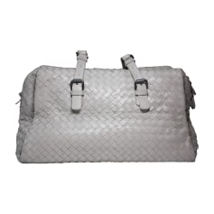 Leather Handbag BOTTEGA VENETA Gray, charcoal