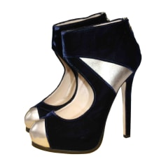 High Heel Ankle Boots FENDI Blue, navy, turquoise