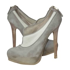 High Heel Ankle Boots FENDI Gray, charcoal