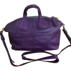 Leather Handbag GIVENCHY Purple, mauve, lavender