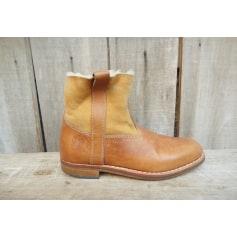 Bottines & low boots plates LA BOTTE GARDIANE Beige, camel