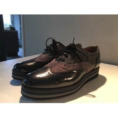 Chaussures à lacets  PERTINI Gris et noir