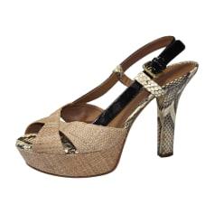 Heeled Sandals DOLCE & GABBANA Beige, camel