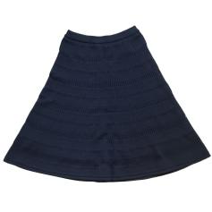 Jupe mi-longue SANDRO Bleu, bleu marine, bleu turquoise