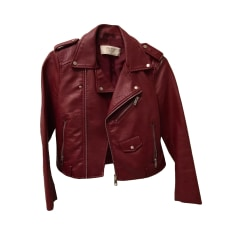 Zipped Jacket ZARA Red, burgundy