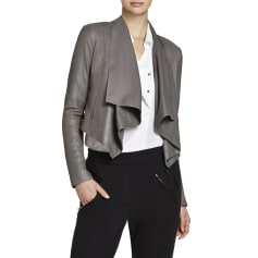 Leather Jacket BCBG MAX AZRIA Gray, charcoal