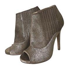 High Heel Ankle Boots JIMMY CHOO Golden, bronze, copper