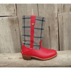 Bottines & low boots plates LA BOTTE GARDIANE Rouge, bordeaux