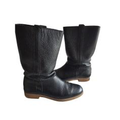 Flat Boots MELLOW YELLOW Black