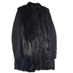 Leather Coat MAJE Black