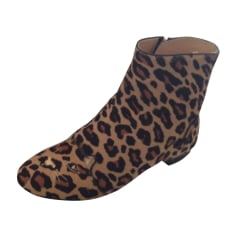 Bottines & low boots plates CHARLOTTE OLYMPIA Imprimés animaliers