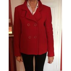 Veste caban rouge femme