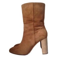 High Heel Ankle Boots BA&SH Beige, camel