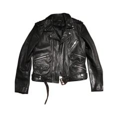 Leather Jacket THE KOOPLES Black