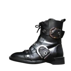 Biker Ankle Boots ZARA Black