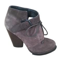 Bottines & low boots à talons ALEXANDER WANG Marron