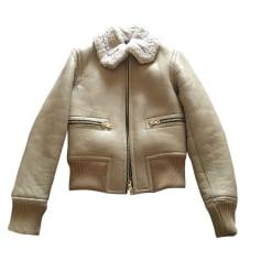 Fur Jackets SANDRO Beige, camel