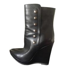 Bottines & low boots à compensés MAX MARA Noir