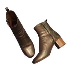 High Heel Ankle Boots ISABEL MARANT ETOILE Golden, bronze, copper