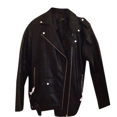 Leather Jacket ZARA Black