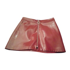 Mini Skirt ZARA Red, burgundy