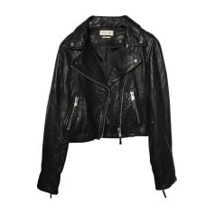 Leather Zipped Jacket ISABEL MARANT ETOILE Black