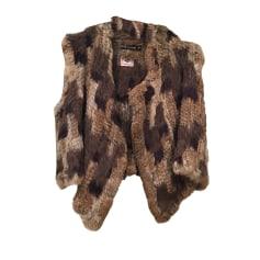 Fur Sleeveless Vest ANTIK BATIK Brown