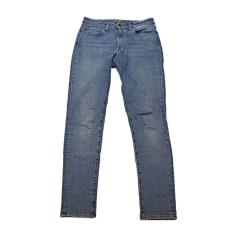 Jeans droit SAINT LAURENT Bleu, bleu marine, bleu turquoise