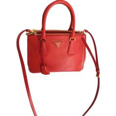 Leather Handbag PRADA Red