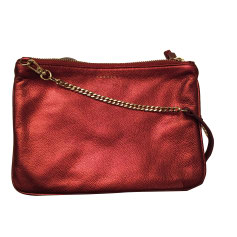 Leather Shoulder Bag SANDRO Red, burgundy