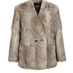 Cappotto in pelliccia MAJE Grigio, antracite