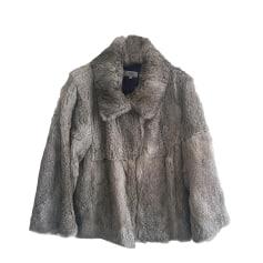 Fur Jackets PABLO DE GERARD DAREL Gray, charcoal