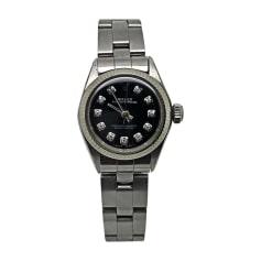 Armbanduhr ROLEX OYSTER PERPETUAL Schwarz