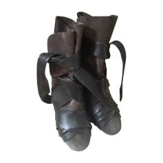 High Heel Ankle Boots ISABEL MARANT Gray, charcoal