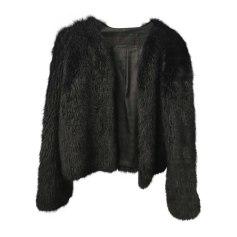 Blouson, veste en fourrure KARL LAGERFELD Noir