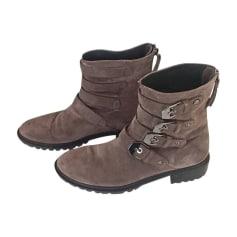 Bottines & low boots plates STUART WEITZMAN Beige, camel
