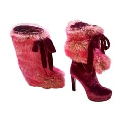Stivali con tacchi MIU MIU Rosa, fucsia, rosa antico
