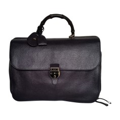 Briefcase, folder GUCCI Blue, navy, turquoise