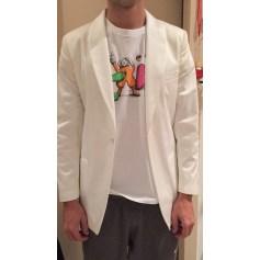 Veste de costume VERSACE Blanc, blanc cassé, écru
