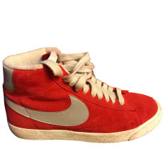 Sneakers NIKE Red, burgundy