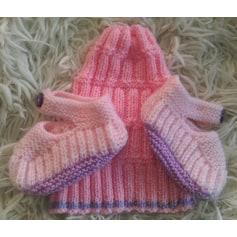 Bonnet tricoté main  pas cher
