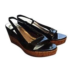 Sandales compensées MIU MIU Noir