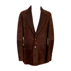 Leather Jacket YVES SAINT LAURENT Brown
