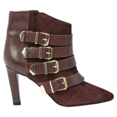 Bottines & low boots à talons THE KOOPLES Rouge, bordeaux