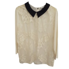 Blouse SANDRO White, off-white, ecru
