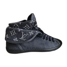Baskets LOUIS VUITTON Bleu jean