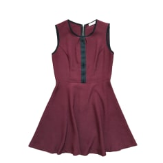 Mini-Kleid SANDRO Rot, bordeauxrot