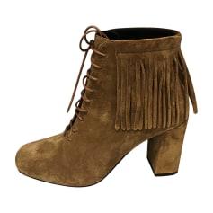 Bottines & low boots à talons SAINT LAURENT Gold