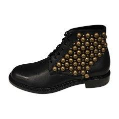 Flat Ankle Boots SAINT LAURENT Black